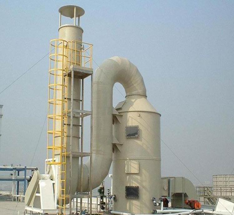 塑胶厂酸气处理喷淋塔案例