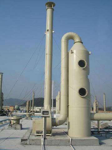 塑胶厂酸气处理喷淋塔工程
