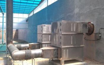 塑料厂废气处理安装实拍