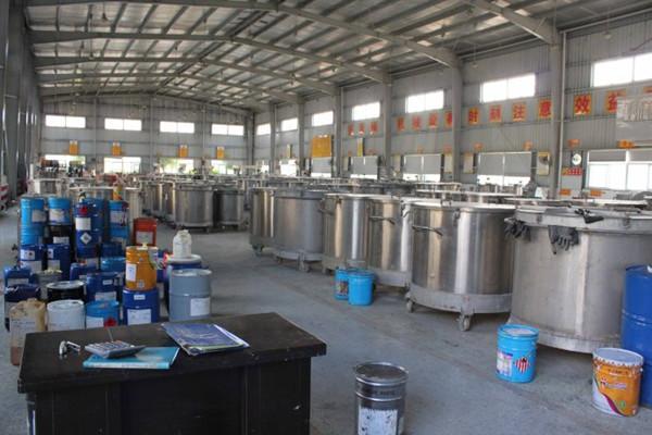 恒蓝环保公司油漆厂有机废气处理方案的油漆存放车间。