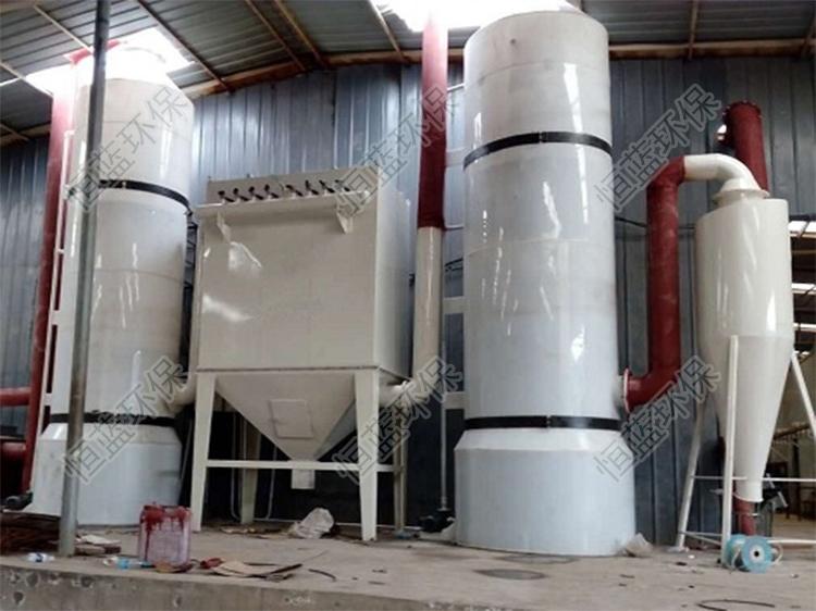 生物质锅炉除尘方案安装完毕以后的相片