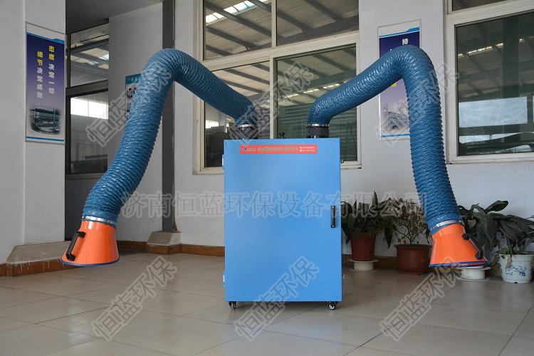 图为电气焊烟气处理采用的单臂跟双臂设备
