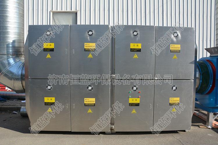 喷漆车间废气处理设备安装在章晃公司的生产车间