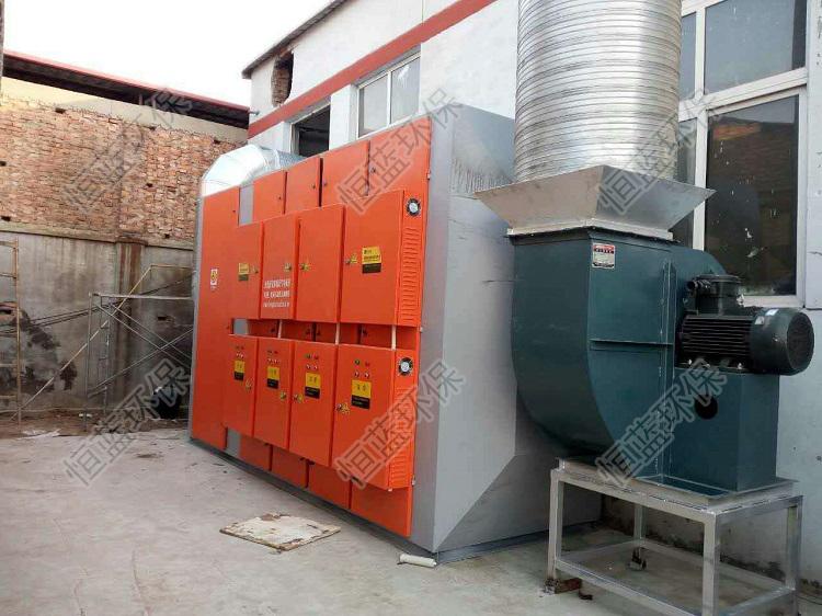 河北家具厂有机废气处理设备安装完毕后的相片