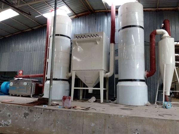 2016年5月安装的东阿阿胶公司废气处理工程现场