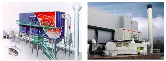 图为有机废气处理方法燃烧法的工作原理