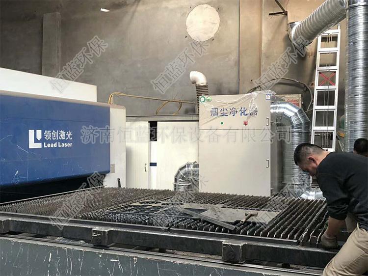 一种激光切割机的烟尘废气处理方法