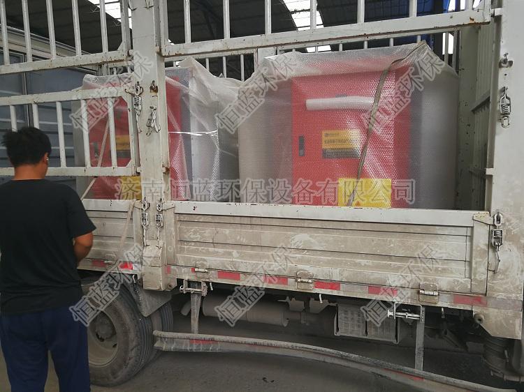 两台5000风量低温等离子设备发往潍坊01