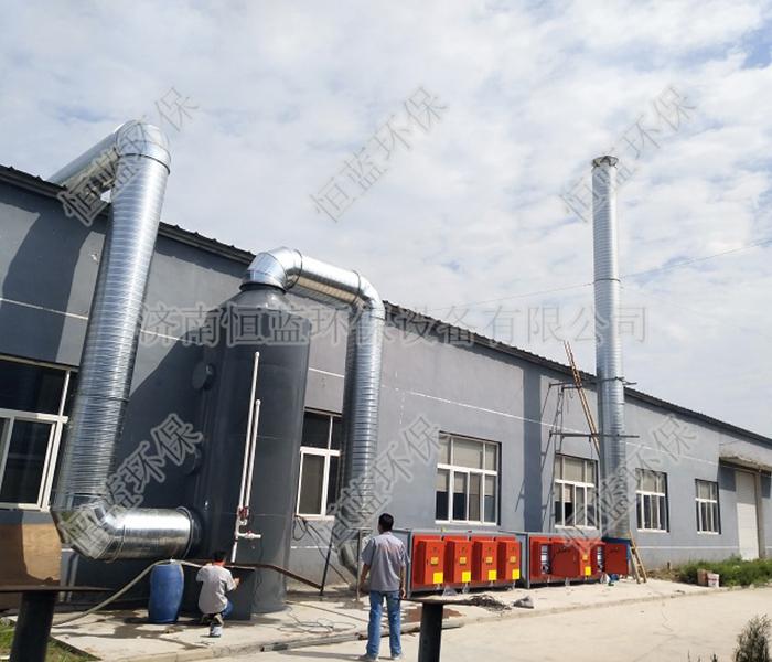 塑料薄膜厂废气处理工程案例