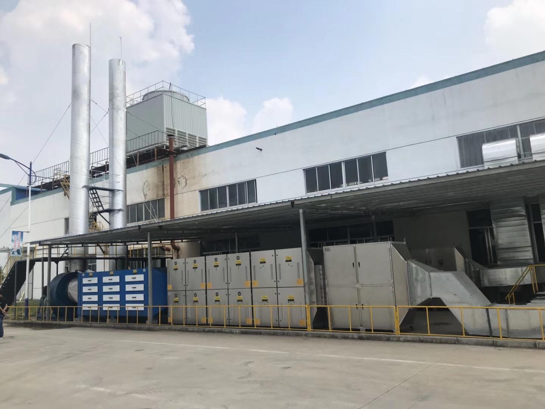 pvc注塑过程中废气处理设备安装完毕