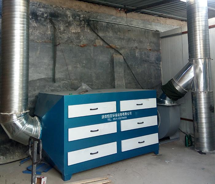 小型注塑废气处理采用的活性炭吸附箱