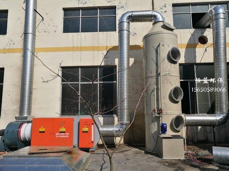 橡胶硫化产生的废气处理工程案例