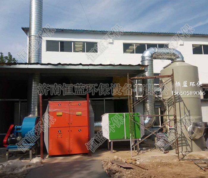 喷漆废气处理工程工艺流程方案