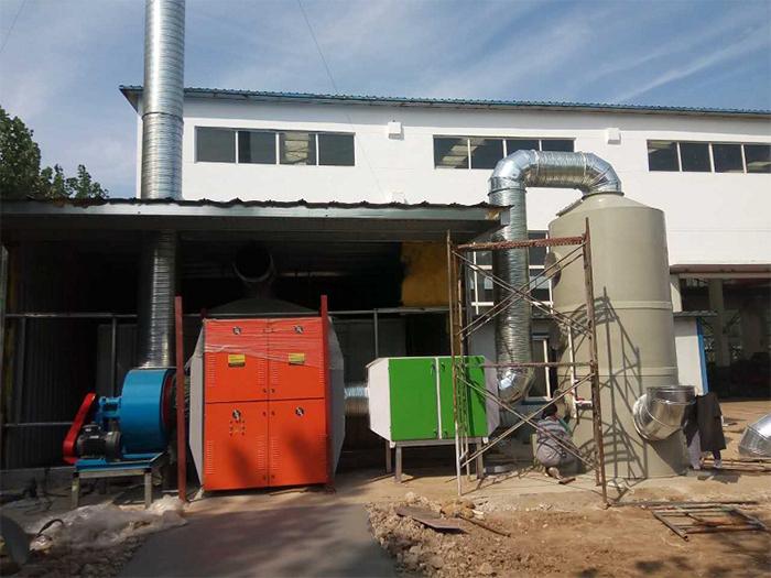 废气净化塔工程案例实拍图